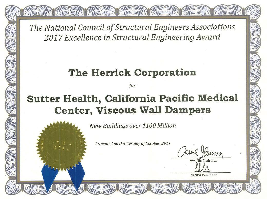Award: 2017 - NCSEA Excellence Award